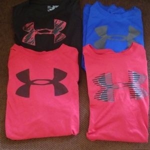 Under Armour Shirts (4)..Size Youth XL